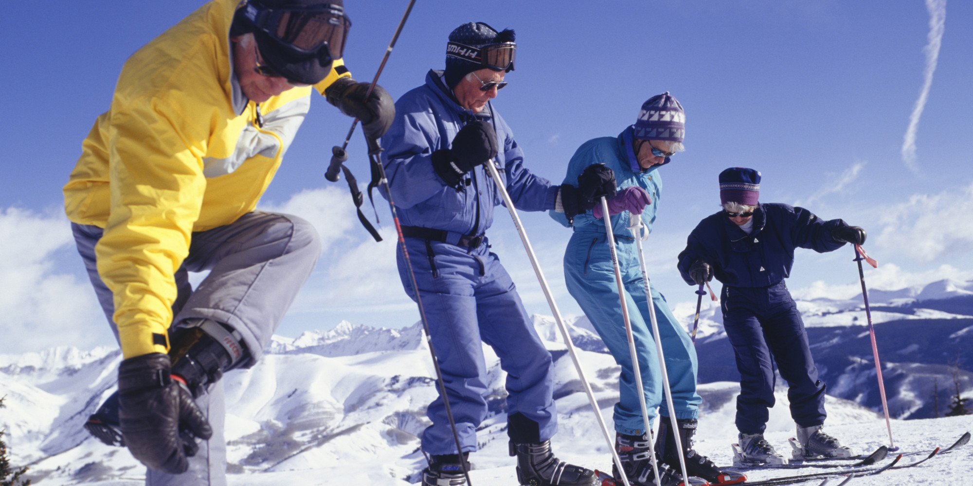 Senioren op de ski